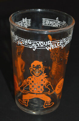 "Welch's Howdy Doody Glass (copyright 1953), ""Welch's Sure Helps Make You Strong"""