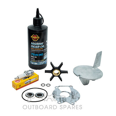 Mercury Mariner Annual Service Kit with Anodes & Oils for 20, 25hp Outboard