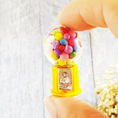 Dollhouse Miniatures Candy Bubble Gum Ball Mini Machine Toy Doll Decor Supply
