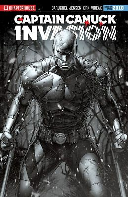 Captain Canuck Invasion #0 Canada Day Special 2018 Aod Keown B&w Cover Pre-Order