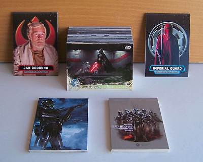 Topps Star Wars Series 2 Rogue One 100 card base set + 4 insert sets. 140 cards