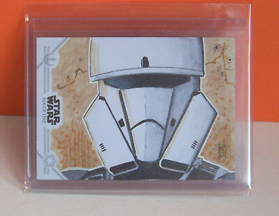 2017 Star Wars Rogue One Series 2 Tank Trooper sketch card Marsha Parkins