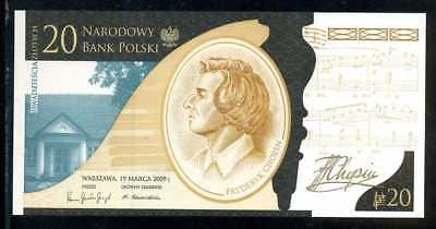 POLAND  20 ZLOTYCH 2009   P 181  W/FOLDER COMMEMORATIVE  Uncirculated