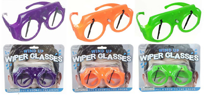Wind Up Wiper Fancy Dress Glasses Moving Party Novelty Windscreen Disco Shades