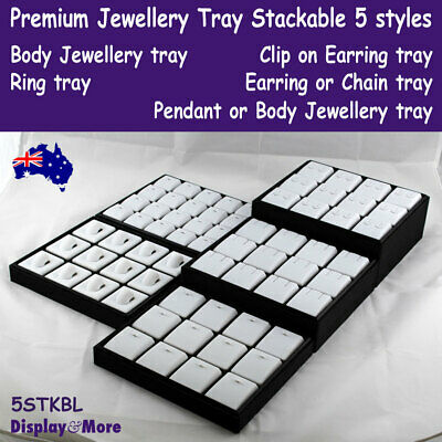 Jewellery Tray Display PROFESSIONAL Stackable | 5 Styles | AUSSIE Stock
