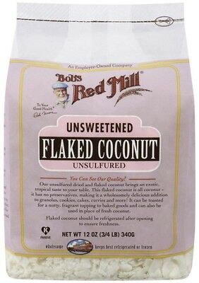 (350ml) - Bob's Red Mill Unsweetened Flaked Coconut, 350ml (3/4 LB) 340g