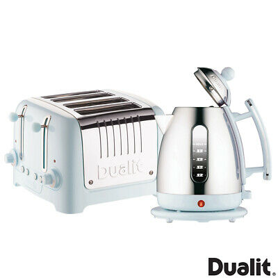 Dualit Lite Cordless Jug Kettle And 4-slot Classic Toaster Set In Ice Blue