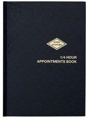 Zions A4 Appointment Book 1/4 Hour 8.00am to 9.00pm Case Bound 1412