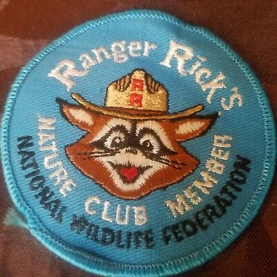 Vintage Ranger Rick Nature Club Member National Wildlife Federation Patch EUC