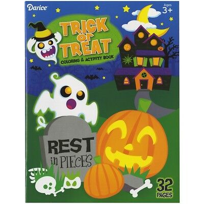 Darice Colouring Book-Trick Or Treat. Best Price