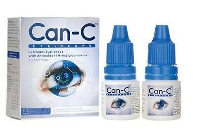 Can-C Cataract Treatment Eye Drops 2 x 5ml Vials for Clearer Vision (ships FREE)