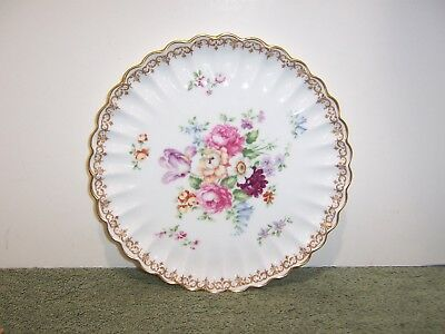 """CROWN STAFFORDSHIRE china ENGLAND'S BOUQUET pattern COOKIE PLATE 8-5/8"""""""