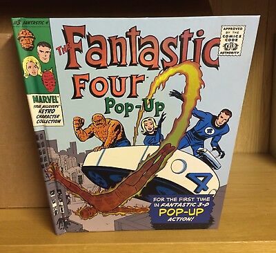 Marvel: Fantastic Four Pop Up Book #3 - First Edition 2008 - Very Good Condition
