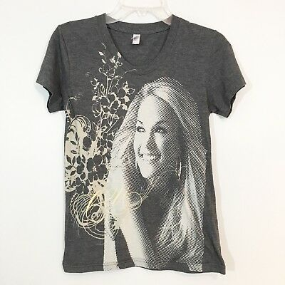 Carrie Underwood Carnival Ride Tour 2008 Gray T Shirt Womens Size M
