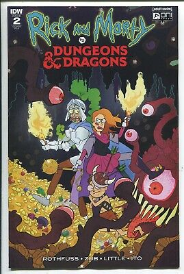 RICK AND MORTY vs. DUNGEONS & DRAGONS #2 JULIA SCOTT VARIANT COVER - 1/10