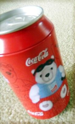 Vintage 2004 Coca-Cola Plush SWIMMING Bear In A Can(unopened)--Athens, Olympics