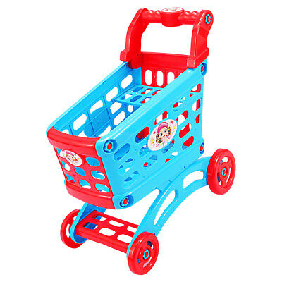 Large Shopping Trolley Cart Supermarket Storage Toy for Kids Pretend Playing