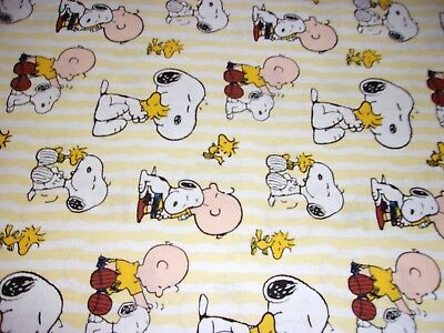 New Hand Made Snoopy & Lioness & Charlie Brown Yellow Fitted Crib/Toddler Sheet