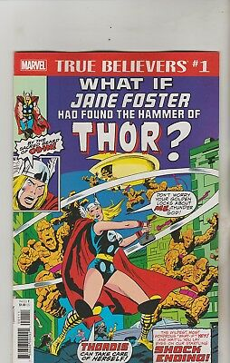 Marvel Comics What If Jane Foster Found Hammer Of Thor True Believers Reprint Nm