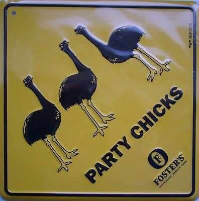 Blechschild >>> FOSTER´S Beer (AU) - Party Chicks