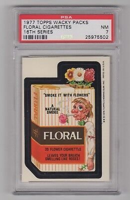 1977 Wacky Packages Rare 16th Series * FLORAL * PSA 7 Tough Card !