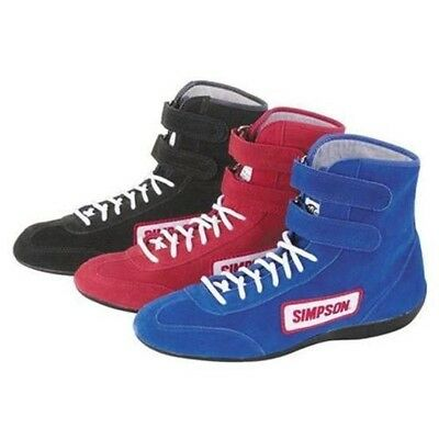 Simpson Safety 28900R Red High Top Race Driving Shoes SFI Rated Size 9