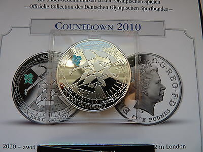 2010 GB £5 Five Pounds Silver Proof Coin 2012 London Olympic Countdown Runners