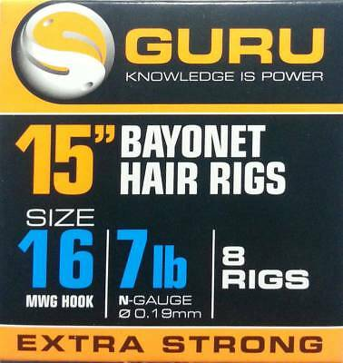 Guru MWG Bayonet Hair Rigs Hooks ALL SIZES