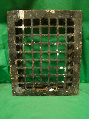 Vintage 1920's Cast Iron Heating Grate Cover Square Design 11.75 X 9.75 D