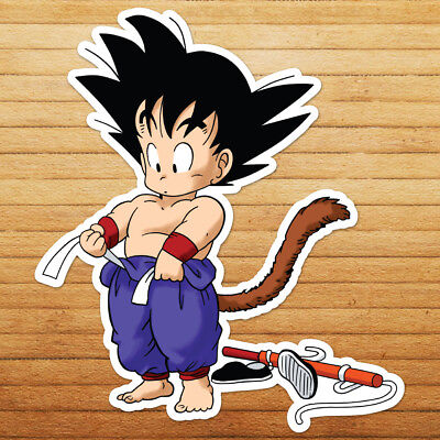 Young Goku Attack Ball Power Pole Dragon Car Die Cut Window Vinyl Decal Sticker