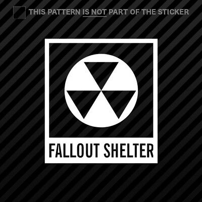 (2x) Fallout Shelter Symbol Sticker Self Adhesive Vinyl Nuclear Radiation