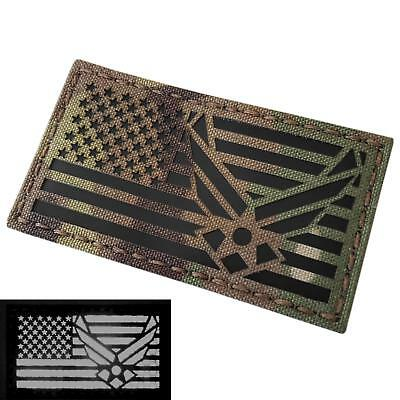 IR USA flag USAF air forces multicam morale IFF tactical fastener patch