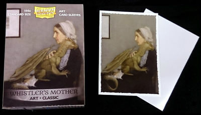 "Dragon Shield Classic Art Standard-Size Sleeves ""Whistler's Mother"" New!"