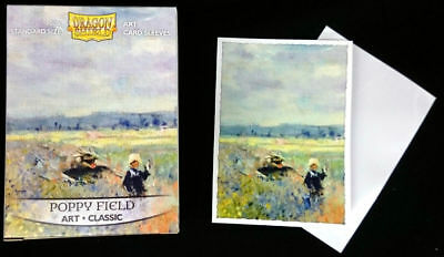"Dragon Shield Classic Art Standard-Size Sleeves ""Poppy Field"" New!"