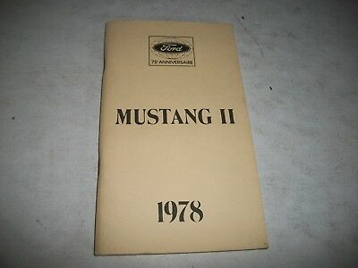 Nos 1978  Ford Mustang Ii  Owners Manual French Language Edition New-Never Used