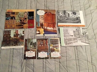 Vintage Lot of 8 - 1950s-1960s Early American, Colonial Furniture Brochures
