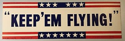 KEEP 'EM FLYING - WWII - Recruiting Poster