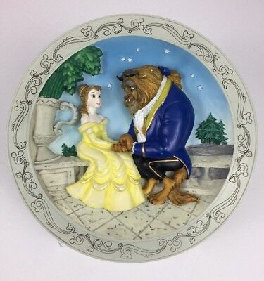 Disney's Animated Classics Beauty And The Beast 1991 3D Collectible Wall Plate