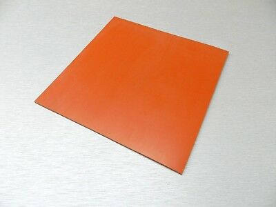 "Silicon Rubber Sheet High Temp Solid Red/Orange Commercial Grade 12"" x 12"" x1/8"""