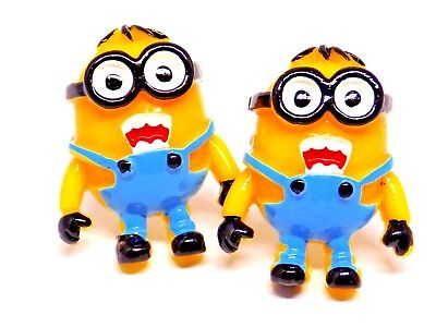 Handmade, Minion Resin Cufflinks, Silver Plated Toggles, Gift Boxed!