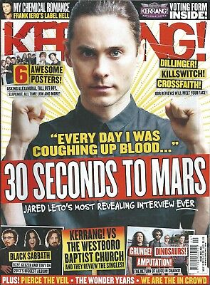 KERRANG! #1466 MAY 2013 JARED LETO 30 Seconds To Mars ALICE IN CHAINS Ville Valo