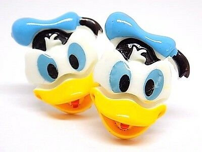 Handmade Donald Duck Resin Cufflinks Silver Plated, Gift Boxed!