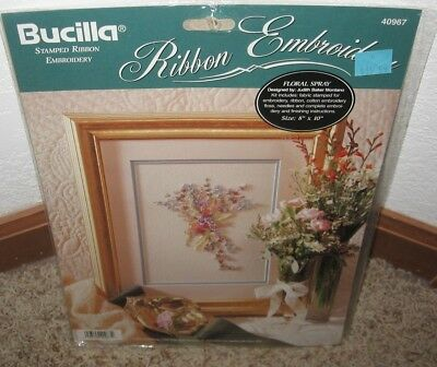"Bucilla Ribbon Embroidery Kit~""floral Spray""~ #40967 Nip"