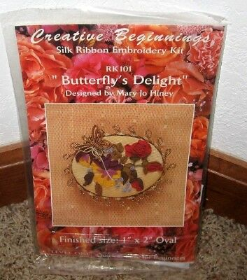 "Creative Beginnings~Silk Ribbon Embroidery""Butterfly's Delight"" Kit #Rk101~Nip"