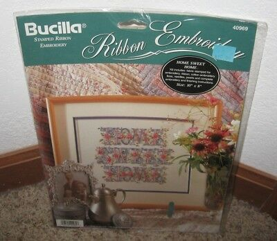 Bucilla Band Geprägtes Set ~ Home Sweet Home #40969 Nip