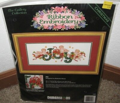 Dimensions Ribbon Embroidery Joy Picture Kit #1440 Nip
