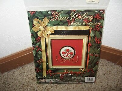 True Colors Ribbon Embroidery Christmas Mini Kit #70004 Nip