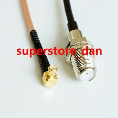 50x BNC male right angle to BNC male RA 50ohm pigtail cable RG316 50cm Wireless