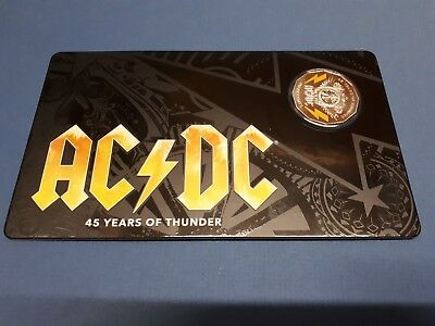 2018 50c AC/DC 45 Years of Thunder Coloured Uncirculated Coin