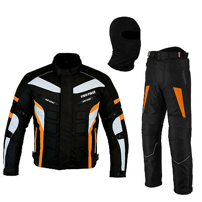 New Orange Motorbike Racing Safety Protection Suit Waterproof Jacket & Trouser